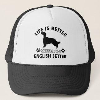 生命は英国セッターとよりよいです キャップ