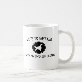 生命は英国セッターとよりよいです コーヒーマグカップ