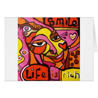 生命は豊富です カード