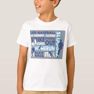 生命は野球です Tシャツ