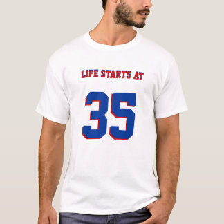 生命は35おもしろいな第35誕生日のおもしろいで始まります Tシャツ