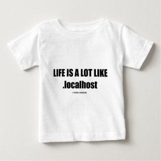 生命は.localhost (Computer/ITのユーモア)のようたくさんです ベビーTシャツ
