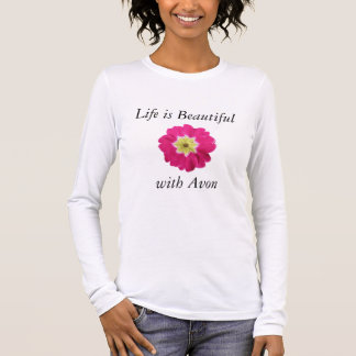 生命はAvonのワイシャツ-長袖と美しいです 長袖Tシャツ