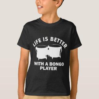 生命はbongolistとよりよいです tシャツ
