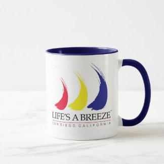 生命はBreeze™_Paint-The-Wind_Sanディエゴのマグです マグカップ