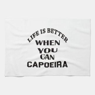 生命はCapoeiraできるときよりよいです キッチンタオル