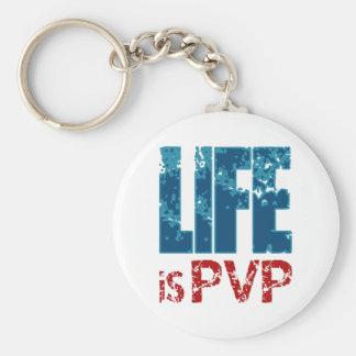 生命はPVPのゲーマーのデザインです キーホルダー
