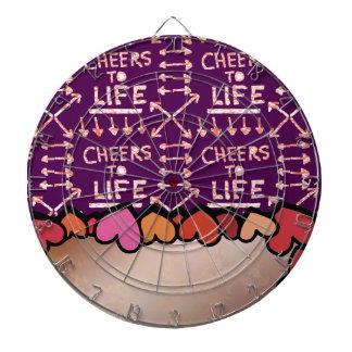 生命への応援: テキスト・ボックス/編集可能文字の挨拶 ダーツボード