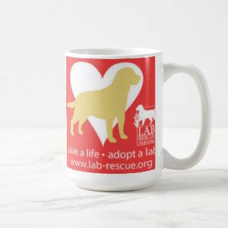 生命を採用します実験室のマグ、イエロー・ラブラドール・レトリーバーを救って下さい コーヒーマグカップ