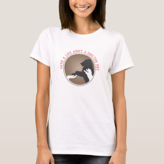 生命を採用します避難所ペットを救って下さい Tシャツ