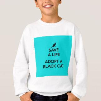 生命を採用します黒猫を救って下さい スウェットシャツ
