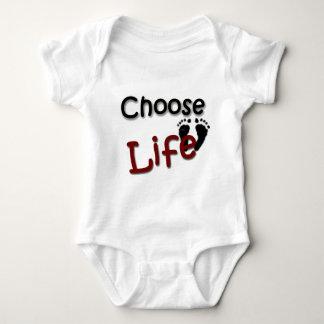 生命を選んで下さい ベビーボディスーツ