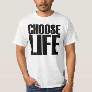 生命を選んで下さい Tシャツ