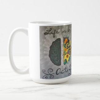 """""""生命ウクライナのバランスをとる行為""""のコーヒー・マグです コーヒーマグカップ"""