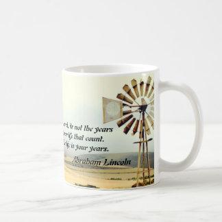 生命エイブラハム・リンカーンの引用文のマグ コーヒーマグカップ
