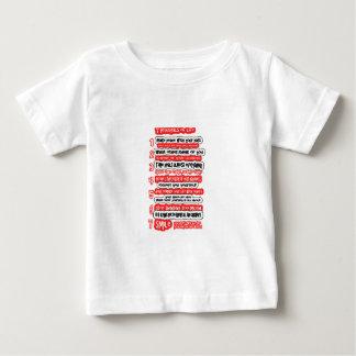 生命グラフィックアートの知恵の文字のための7つの基本ルール ベビーTシャツ