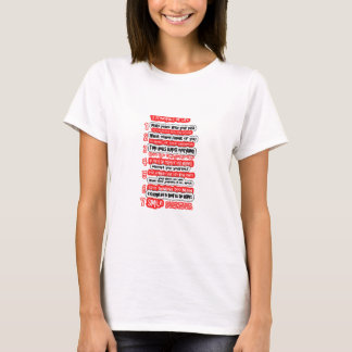 生命グラフィックアートの知恵の文字のための7つの基本ルール Tシャツ