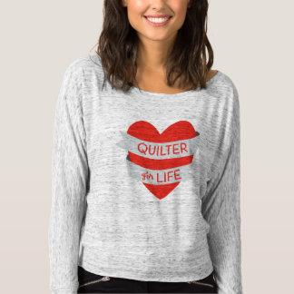 生命スコップ首のスエットシャツのためのQuilter Tシャツ
