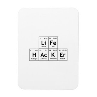 生命ハッカー化学要素の周期表の単語 マグネット