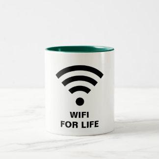 生命ハンター緑のためのWIFI 11のozのツートーンマグ ツートーンマグカップ