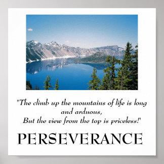 生命ポスターの山の上の上昇 ポスター