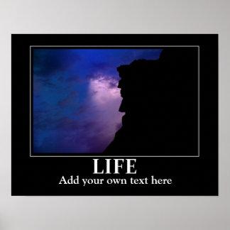 生命ポスターインスピレーション/刺激はあなたの文字を加えます ポスター