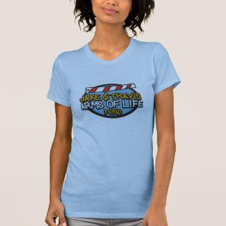生命ワイシャツの女性X大きい淡いブルーの腕 Tシャツ