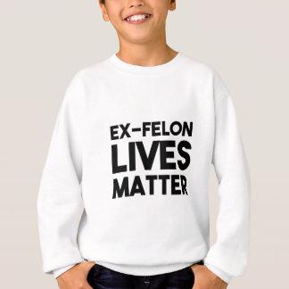 生命問題-白 スウェットシャツ