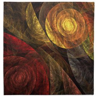 生命抽象美術のナプキンの螺線形 ナプキンクロス