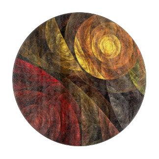 生命抽象美術の円の螺線形 カッティングボード