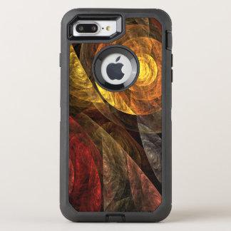 生命抽象美術の螺線形 オッターボックスディフェンダーiPhone 8 PLUS/7 PLUSケース