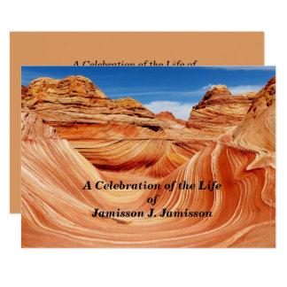生命招待状の写真の楽園のお祝い カード