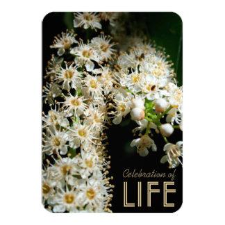 生命招待状#1の花のお祝い カード