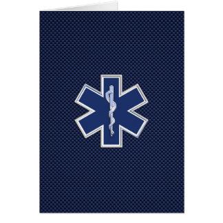 生命救急医療隊員の緊急の医療サービスの星 カード