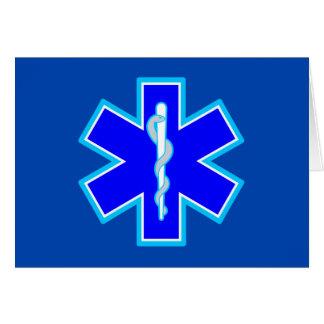 生命救急医療隊員の記号EMSの青の星 カード