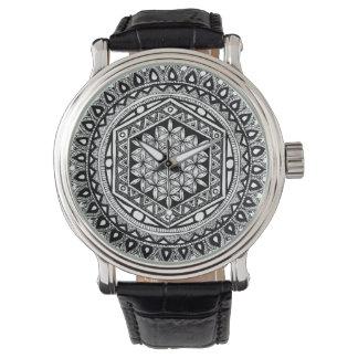 生命曼荼羅の花 腕時計