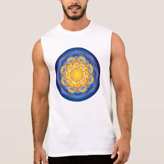 生命曼荼羅の花 袖なしシャツ