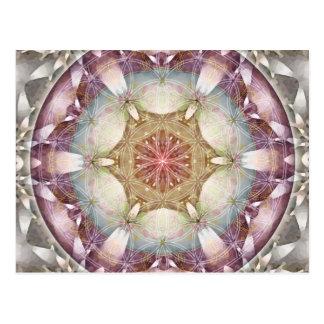 生命曼荼羅13のカードの花 葉書き