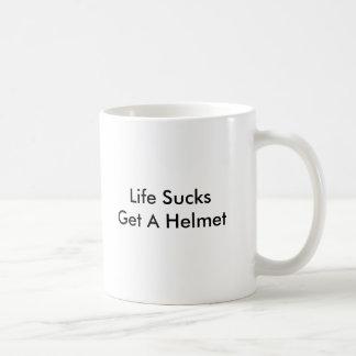 生命最低はヘルメットを得ます コーヒーマグカップ