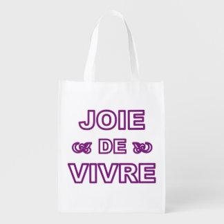 生命生活のフランスのな句の「生きる喜び」の喜び エコバッグ