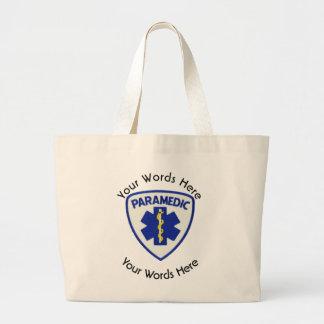 生命盾の救急医療隊員の星 ラージトートバッグ