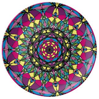 生命磁器皿の円 磁器プレート