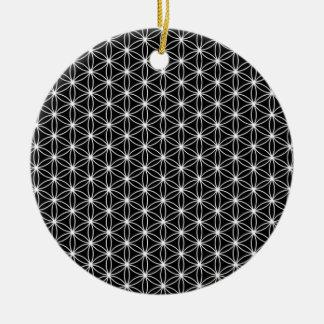 生命神聖な幾何学の花 セラミックオーナメント