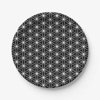 生命神聖な幾何学の花 ペーパープレート