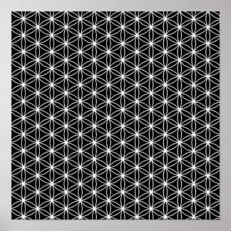生命神聖な幾何学の花 ポスター