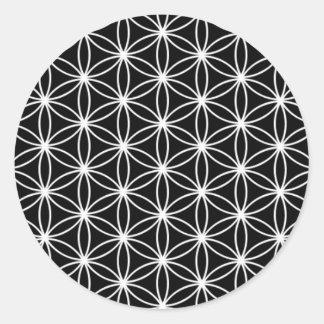 生命神聖な幾何学の花 ラウンドシール