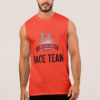 生命競争のチームのための適合 袖なしシャツ