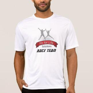 生命競争のチームのための適合 Tシャツ