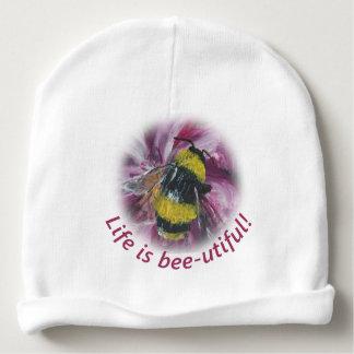 """""""生命蜂utiful""""の赤ん坊の帽子です ベビービーニー"""