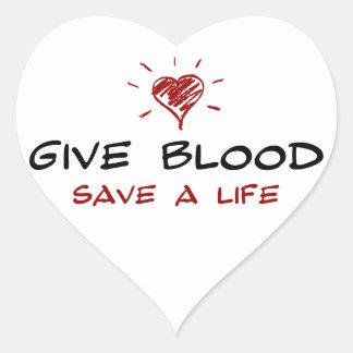 生命血の保存に与えて下さい ハートシール